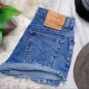Levi's 550 Distressed Shorts
